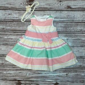 Infant girls pastel strip dress